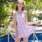Set: Patterned Swim Dress + Bottom 1596