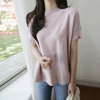 Boat-Neck Knit Top 1066770589