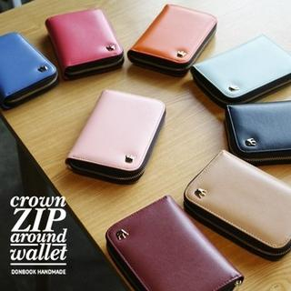 "Crown"" Series Zip-Up Wallet - (S) 1044843995"