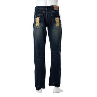 Picture of Buden Akindo Printed Pocket Faded Jeans - Beautiful Pig 1012615442 (Buden Akindo, Mens Denim, Japan)