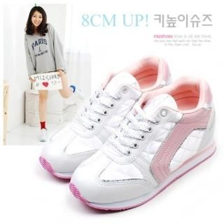 Picture of Miz shoes Lace-Up Platform Sneakers 1021088269 (Sneakers, Miz shoes Shoes, Korea Shoes, Womens Shoes, Womens Sneakers)