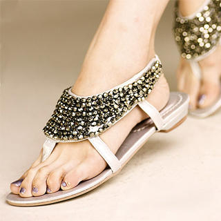 Buy Kvoll Beaded Thong Sandals 1023070414