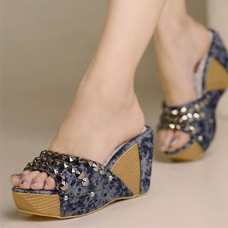 Buy Kvoll Studded Platform Wedges 1023070649