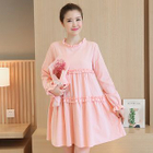 Frilled Maternity Dress 1596