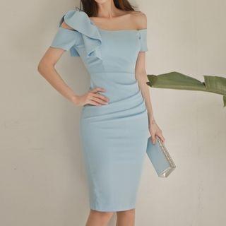 Off-Shoulder Bodycon Dress 1059850414