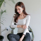 Square-Neck Ribbed Top 1596