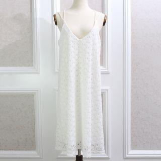 Lace Spaghetti Strap Dress 1059780855