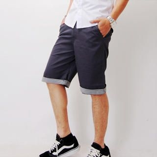 Buy SLOWTOWN Cuffed Bermuda Shorts 1022963139