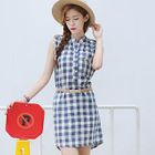Sleeveless Check Dress 1596