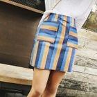 Striped Pencil Skirt 1596