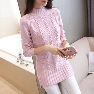 Ribbed Long-Sleeve Knit Top 1065467121