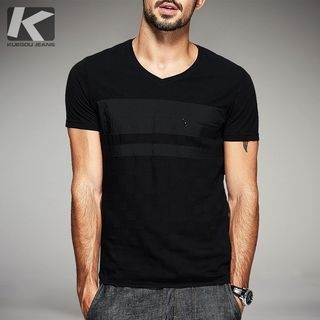 V-neck Short-Sleeve T-shirt 1052864576