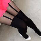 Two-Tone Tights Black - One Size 1596