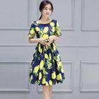 Lemon-Print A-Line Dress от YesStyle.com INT