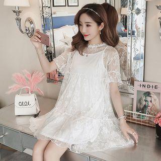 Short-sleeve | Maternity | Strappy | Dress | Lace