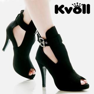 Picture of Kvoll Buckle-Detail Peep-Toe Platform Pumps 1022512501 (Pump Shoes, Kvoll Shoes, China Shoes, Womens Shoes, Womens Pump Shoes)