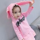 Set: Kids Lace-Trim Hooded Top + Skirt 1596