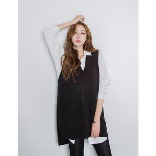 V-Neck Knit Vest 1057726223