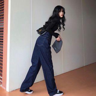 Long-sleeve | High-waist | T-Shirt | Jean