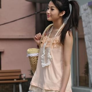 Picture of Yammi Lace Trimmed Camisole 1022304545 (Yammi Apparel, Womens Innerwear, Hong Kong Apparel, Slips & Camis)