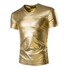 Metallic V-neck Short-Sleeve T-shirt 1596