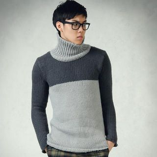 Buy deepstyle Color-Block Turtleneck Knit Sweater 1021643252