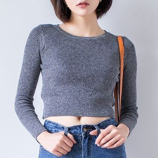 Cropped Knit Top 1053341078