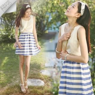 Buy Mango Ribbon Sleeveless Dress 1022980687