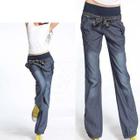 Elastic Waist Wide Leg Pants 1596