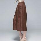 Plain Cropped Wide-Leg Pants 1596