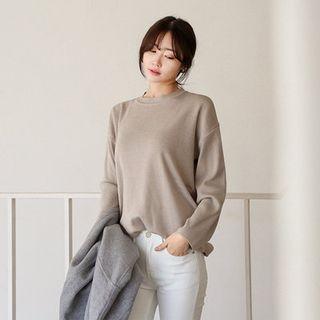 Drop-Shoulder Knit Top 1054796556