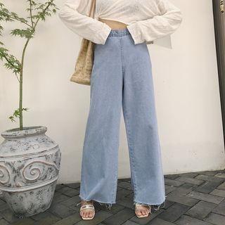 High Waist Wide Leg Jeans 1061591303