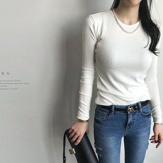 Slim-Fit Ribbed T-Shirt 1064716430