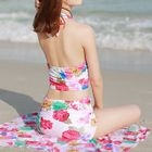 Set: Floral Print Tankini + Beach Cover-Up 1596