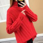 Mock Neck Rib Knit Sweater 1596
