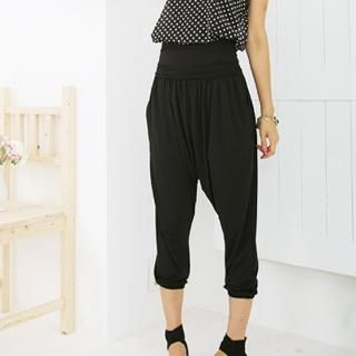 Picture of BBon-J Cropped Baggy Pants 1022942832 (Womens Saruel Pants, Womens Cropped Pants, BBon-J Pants, South Korea Pants)