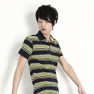 Buy SERUSH Striped Polo Shirt 1022793310
