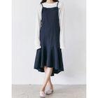 Dip-Back A-Line Jumper Dress 1596