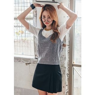 Sleeveless Cable-Knit Top 1052871534