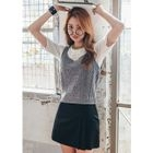 Sleeveless Cable-Knit Top 1596