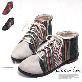 Buy Woorisin Mixed Print High Top Shoes 1022239093