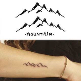Mountain Temporary Tattoo Stickers