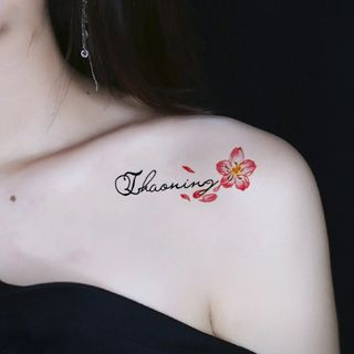 Waterproof | Temporary | Tattoo | Figure | Flower | Size | One
