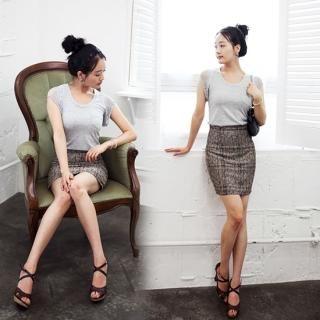 Buy Beige High Waist Miniskirt 1023026324