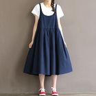 Maternity Midi Pinafore Dress 1596