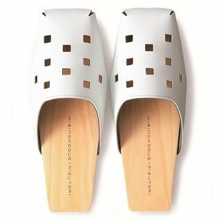 Buy Mizutori Square-Toed Wooden Sandals 1004546660