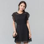 Short-Sleeve Ruffle Chiffon Dress от YesStyle.com INT