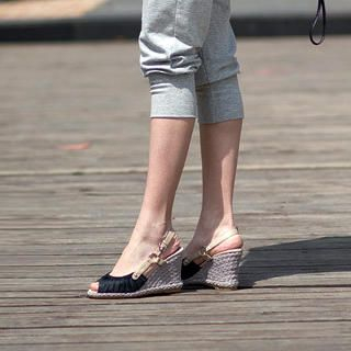 Buy Smoothie Pleated Wedge Sandals 1022780533