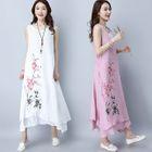 Floral Sleeveless Maxi Dress 1596