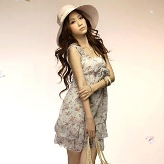 "Buy Tokyo Fashion Sleeveless ""Bow"" Floral Print Dress 1022550351"